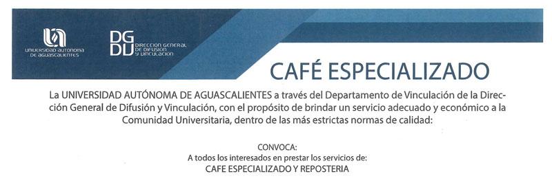 Convocatoria Servicios Concesionados – Café Especializado