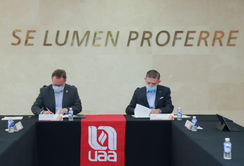 UAA y CANACO firman convenio de colaboración en favor de las MIPyMES locales