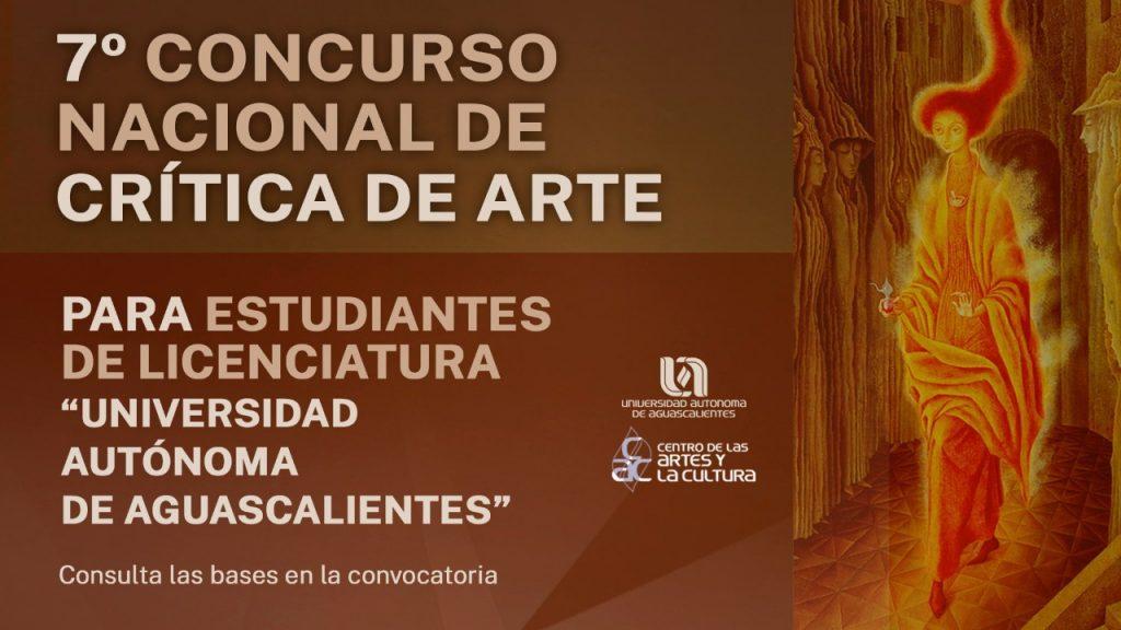 UAA convoca al 7° Concurso Nacional de Crítica de Arte para estudiantes universitarios