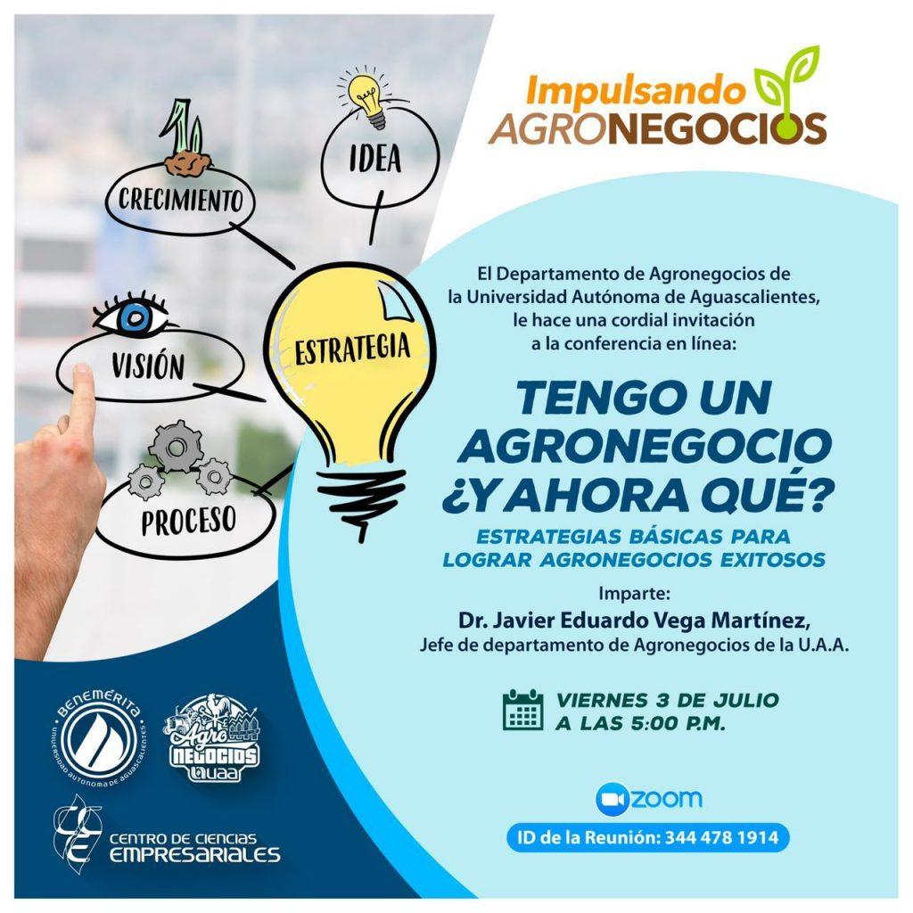 UAA continúa brindando apoyos para agronegocios mediante conferencias virtuales