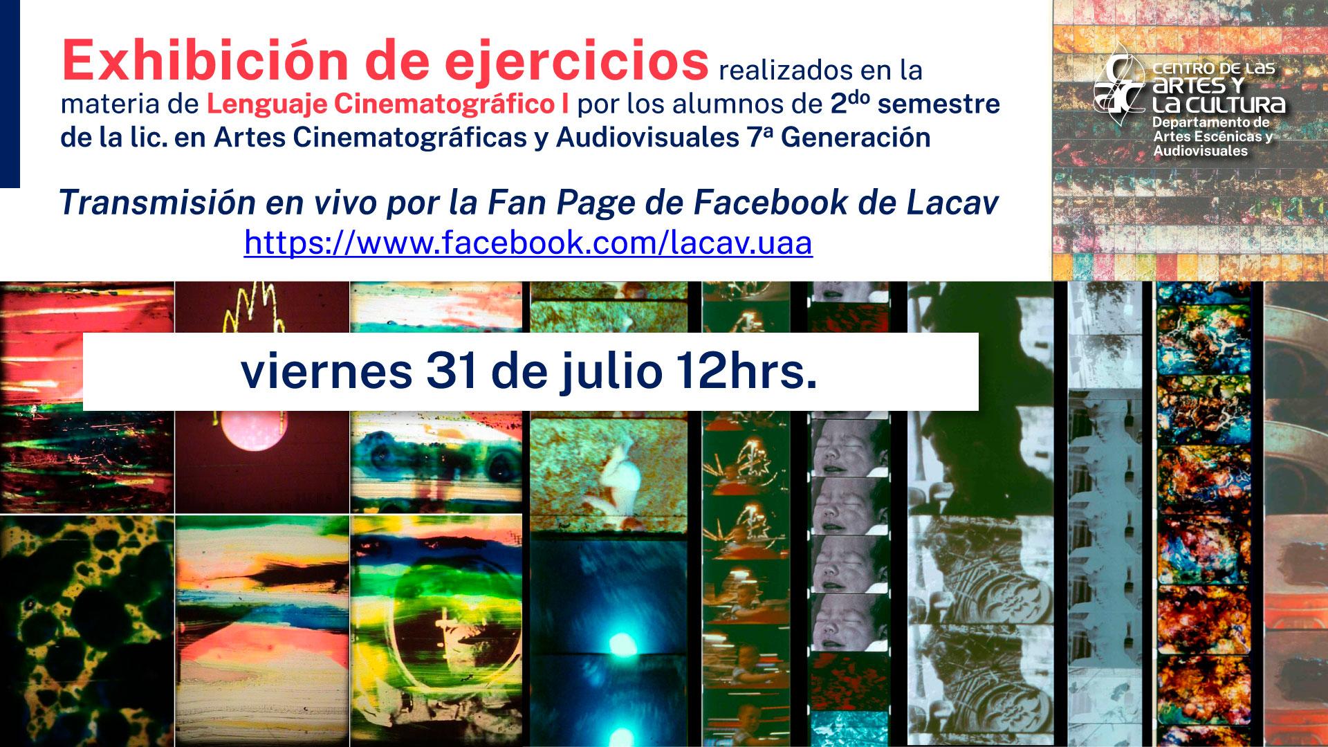 Exhibición de ejercicios- Lic. en Artes Cinematográficas y Audiovisuales
