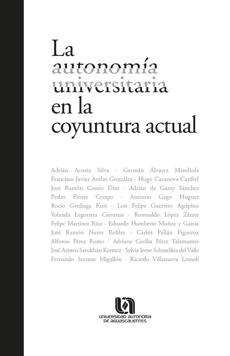 Presenta la UAA el libro La autonomía universitaria en la coyuntura actual