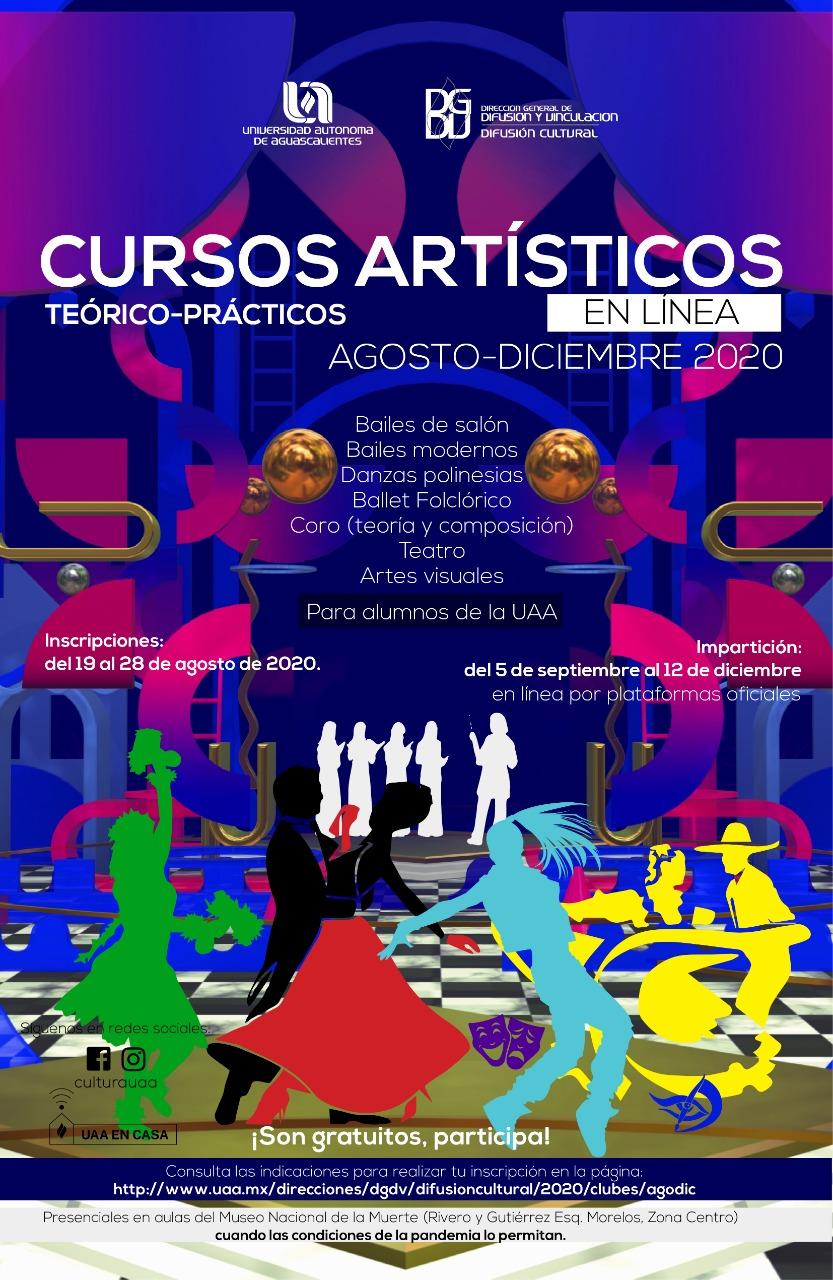 Cursos artísticos agosto-diciembre 2020