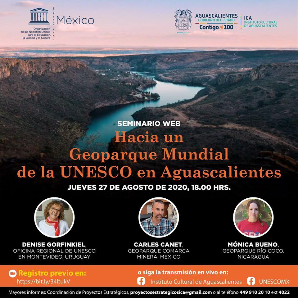 """""""Hacia un geoparque mundial de la UNESCO en Aguascalientes"""" – Seminario"""