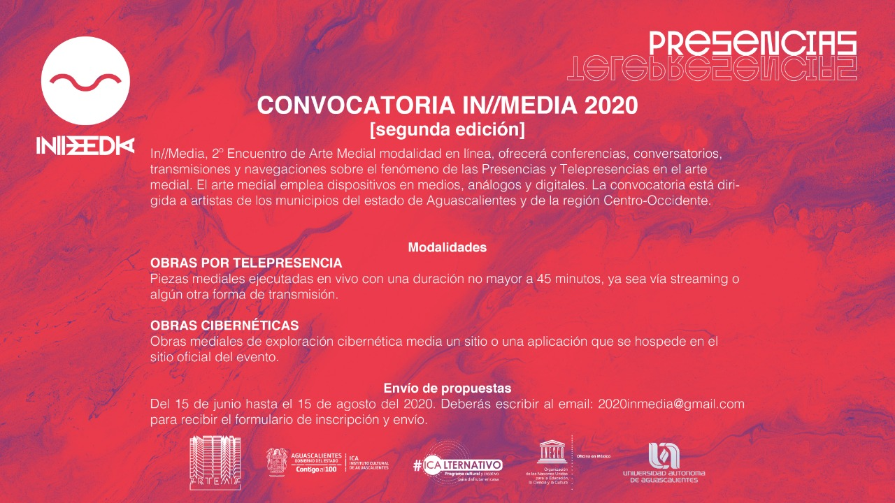 Convocatoria In/media 2020