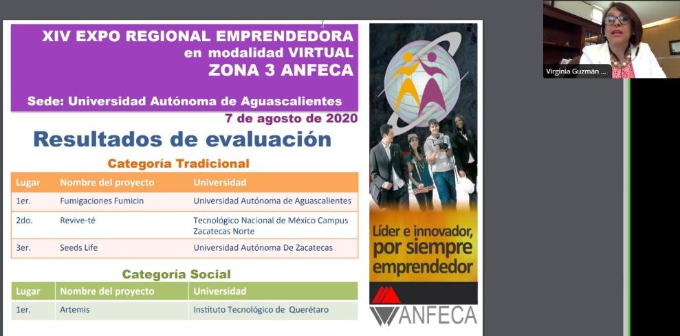 Estudiantes de la UAA destacan en la XIV Expo Regional Emprendedora de la ANFECA