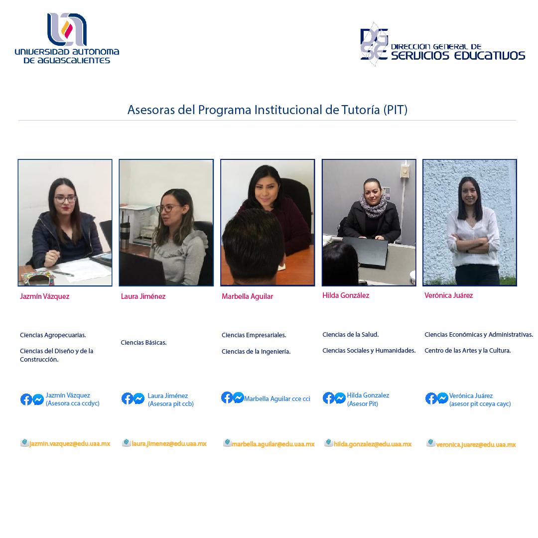 Identifica a la Asesora del Programa Insitutucional de Tutoría (PIT) de tu Centro Académico