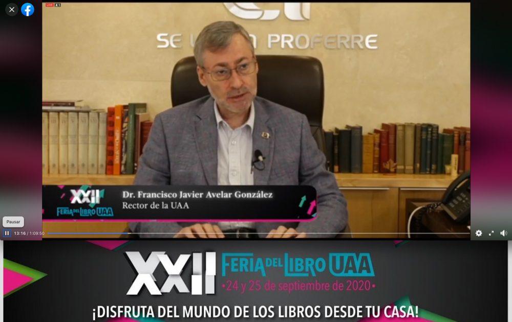 En modalidad virtual UAA inicia actividades de la XXII Feria del Libro universitario