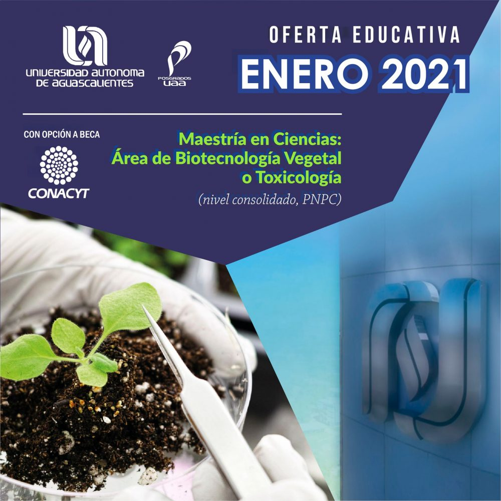 Maestría en Ciencias Área de Biotecnología Vegetal o Toxicología (PNPC)