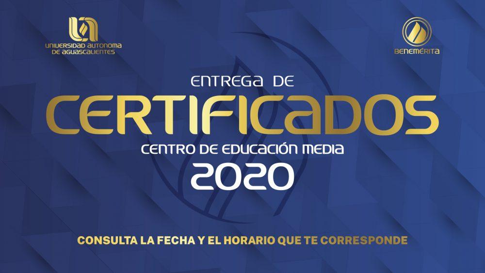 Entrega de Certificados 2020