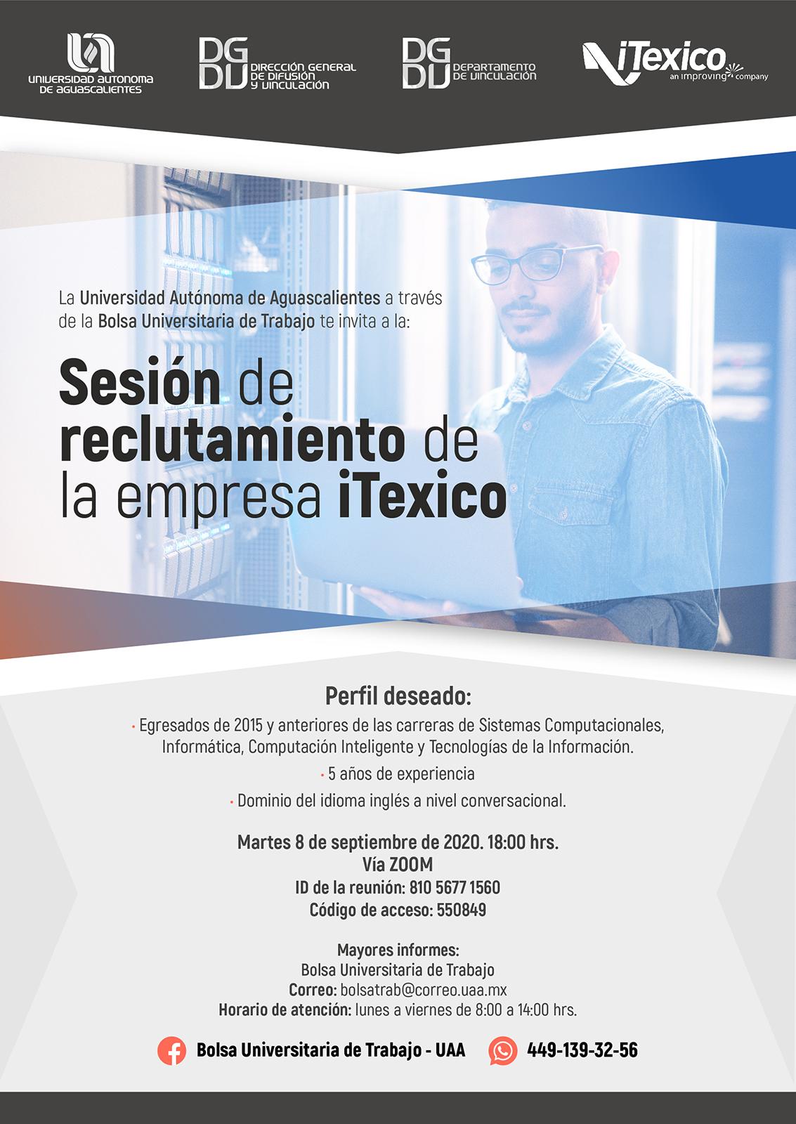 Sesión de Reclutamiento de la Empresa iTexico