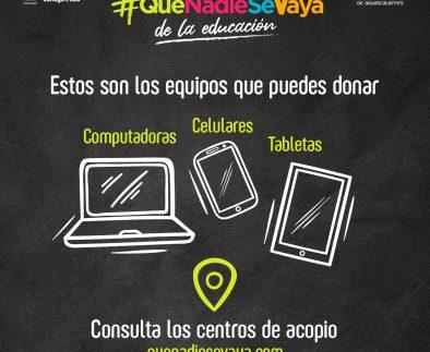 UAA será centro de acopio de computadoras para el programa #QueNadieSeVaya de la educación
