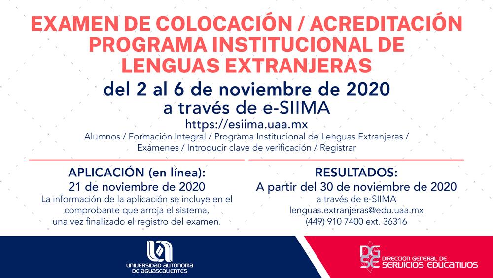 Examen de Colocación /Acreditación PILE