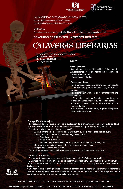 Concursos de Talentos Universitarios – Calaveras Literarias