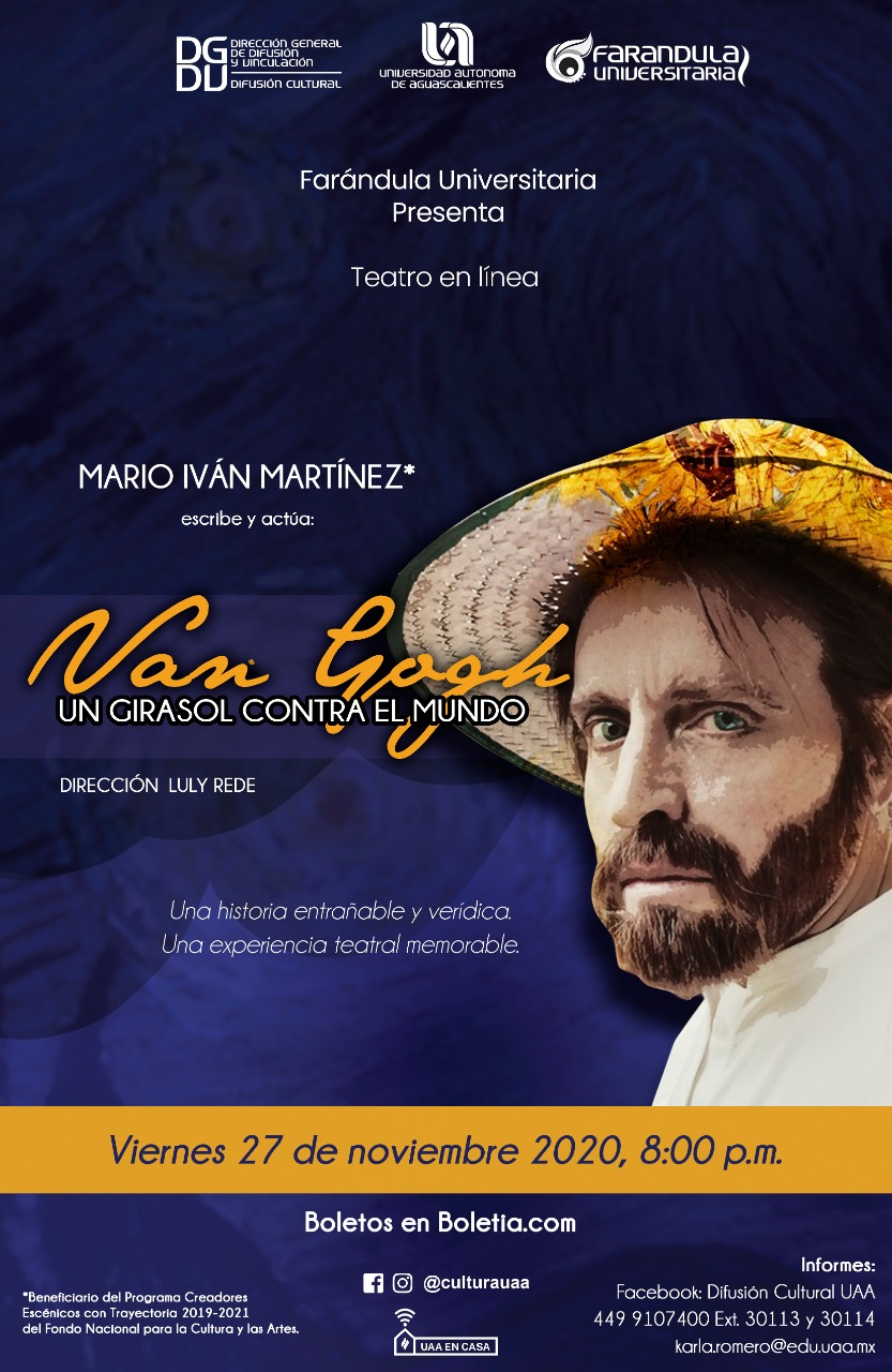 Teatro en línea: Van Gogh, un girasol contra el mundo