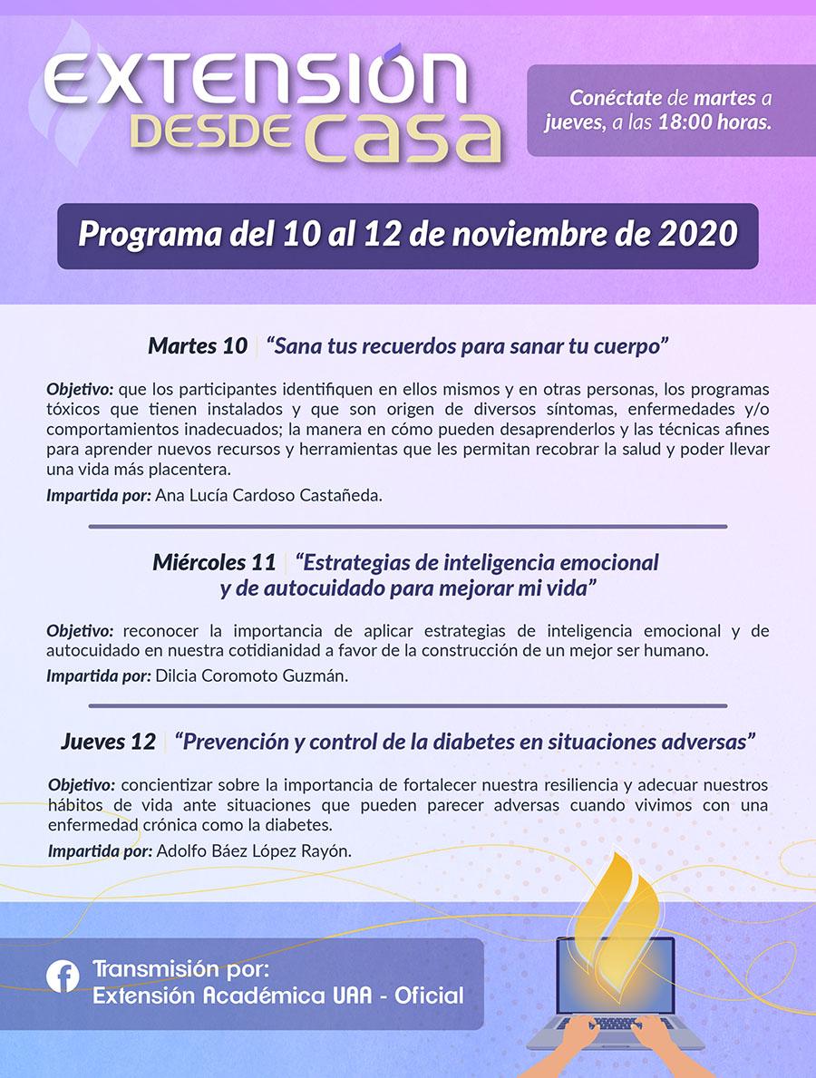 ULTIMA SEMANA DE LA 3RA TEMPORADA EXTENSIÓN DESDE CASA – UAA