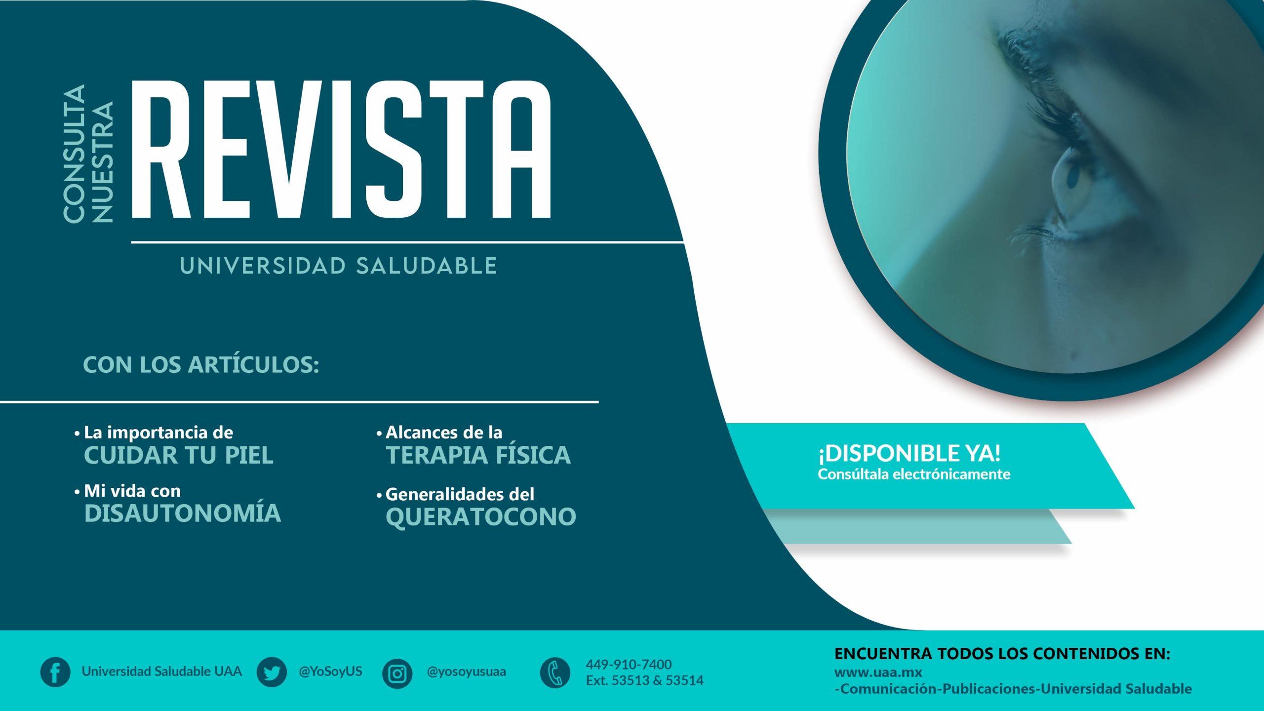 Consulta la revista de Universidad Saludable