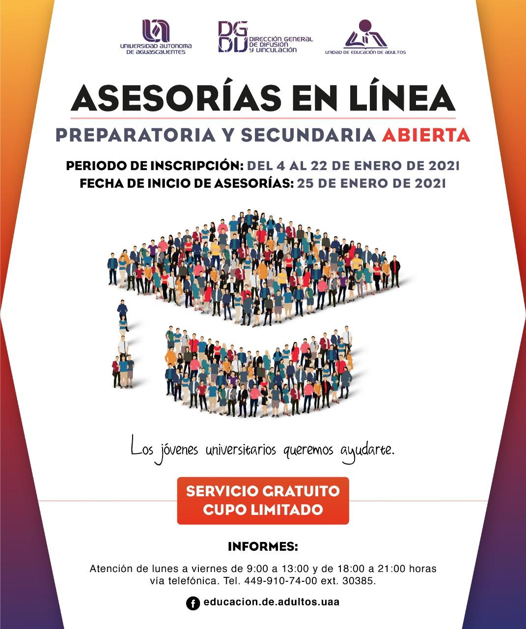 UAA abre periodo de inscripciones para su Unidad de Educación de Adultos