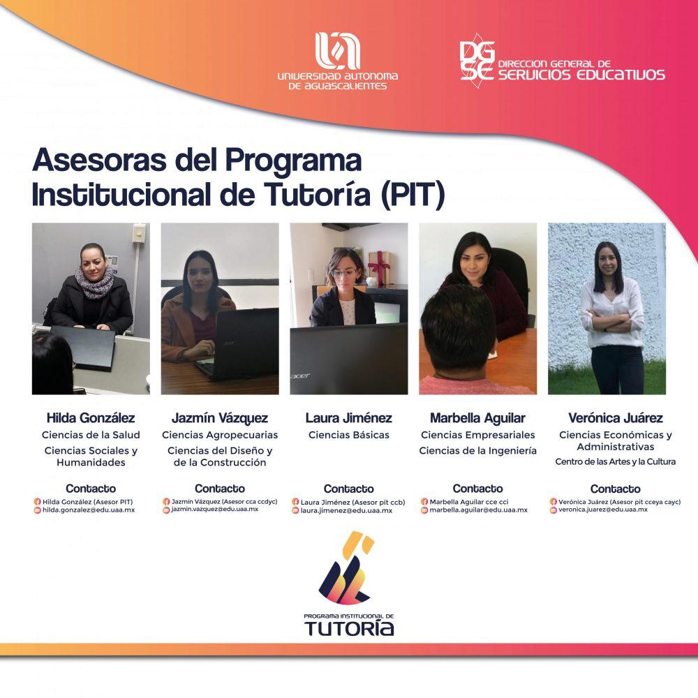 Directorio de Asesoras del Programa Institucional de Tutoría (PIT)