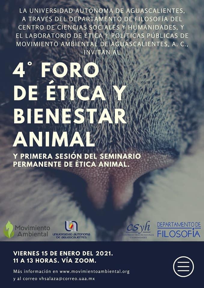 UAA realizará 4° Foro de Ética y Bienestar Animal