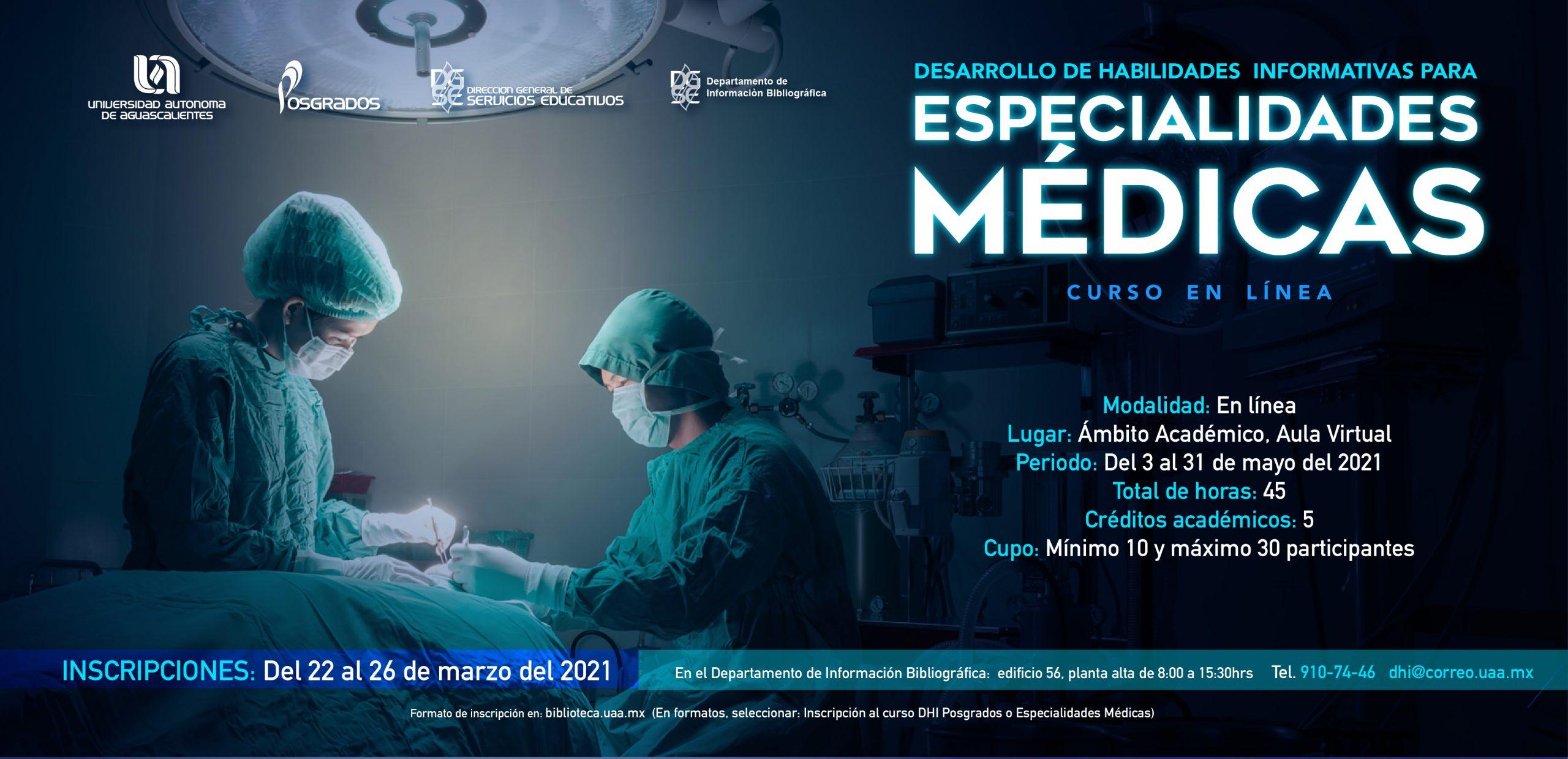 Curso Desarrollo de Habilidades Informativas para Especialidades Médicas
