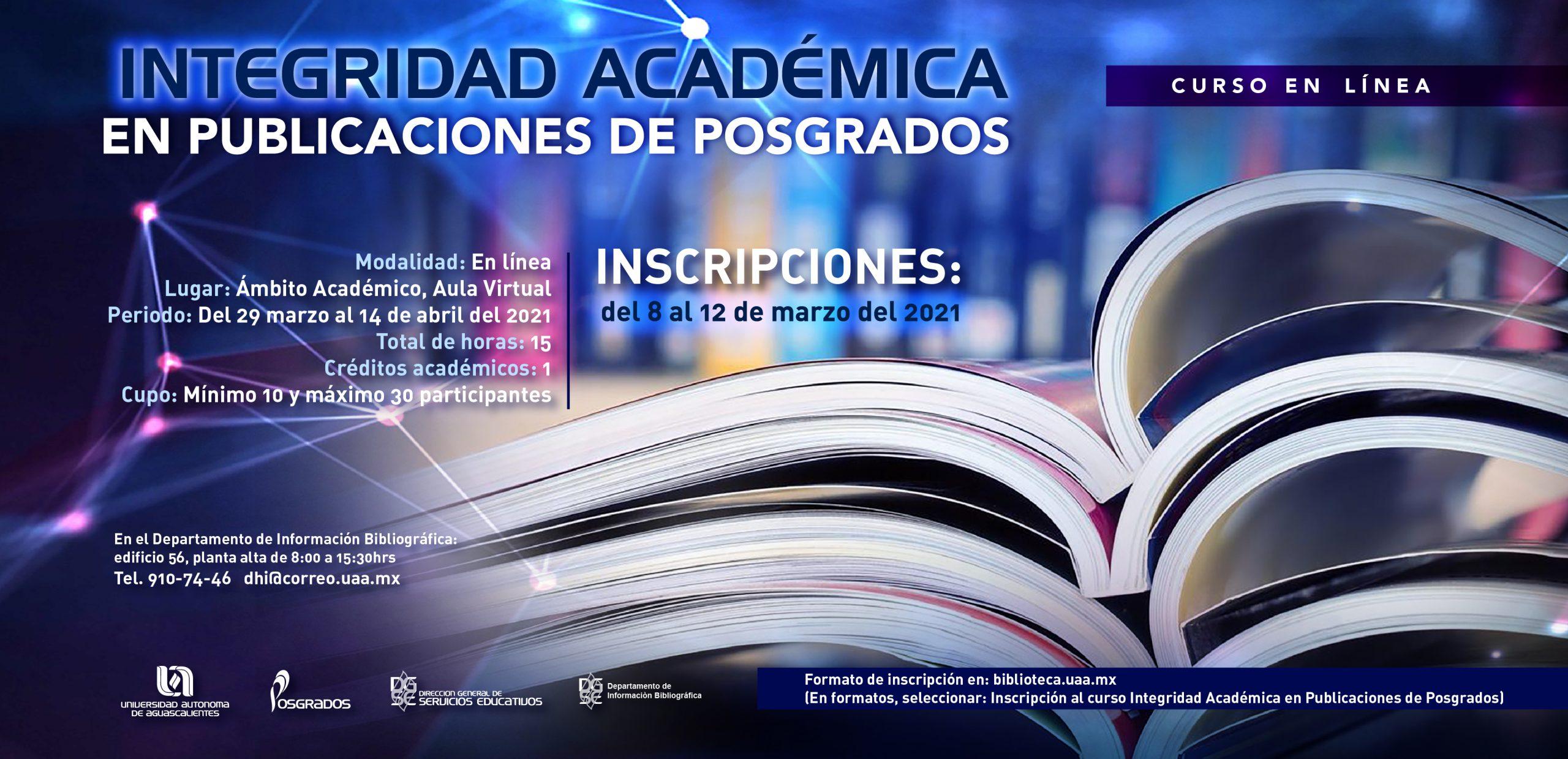 Curso Integridad Académica en Publicaciones de Posgrados