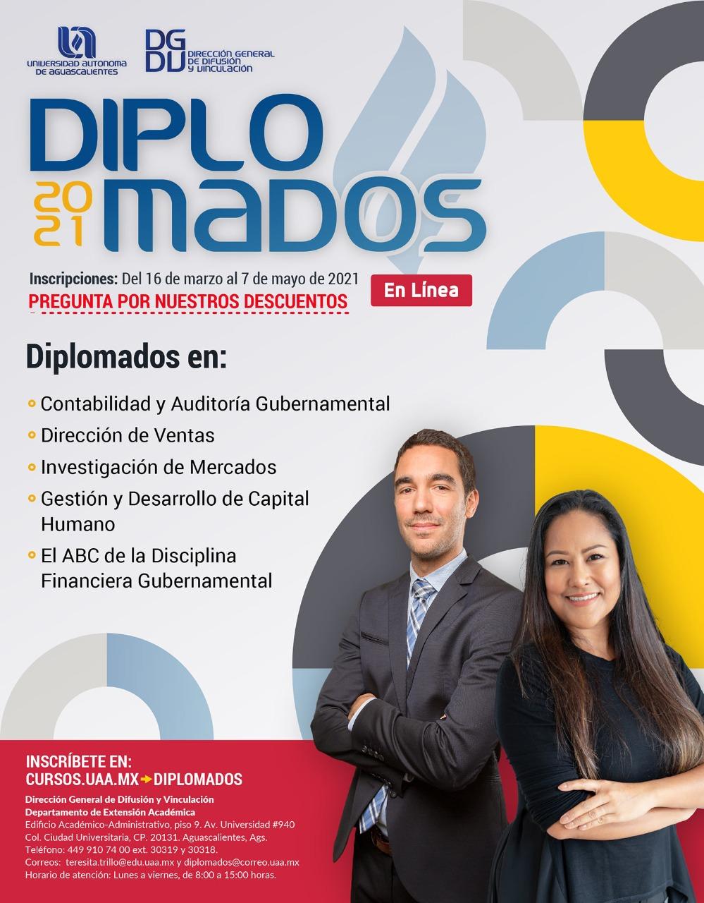 UAA incentiva el crecimiento profesional con sus Diplomados 2021