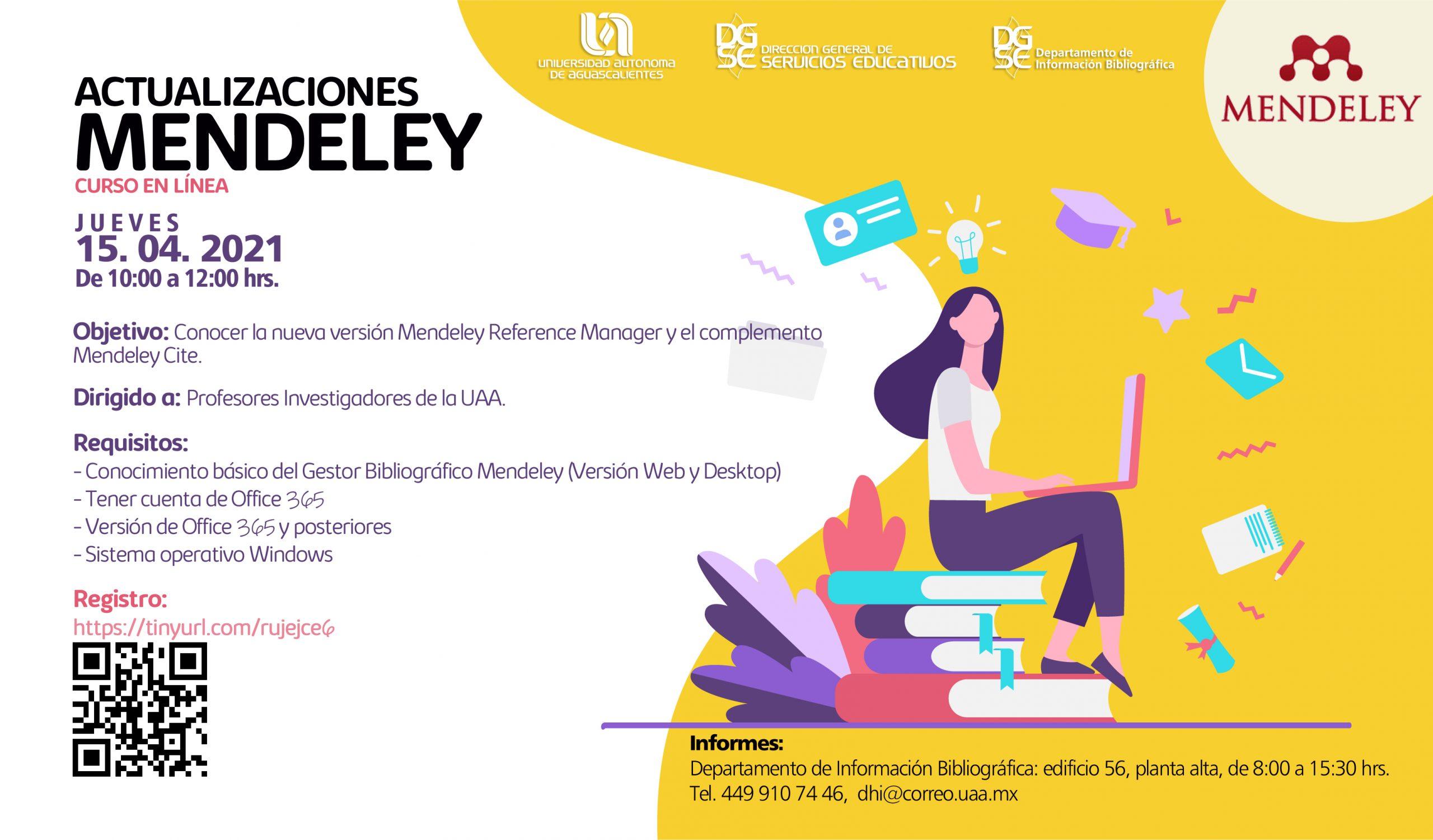 Curso en línea: Actualizaciones Mendeley