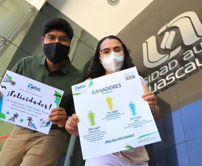 """Estudiantes de Diseño Industrial de la UAA ganan segundo lugar en el certamen nacional """"Innova Diseño"""" de la empresa Vitro Envases"""