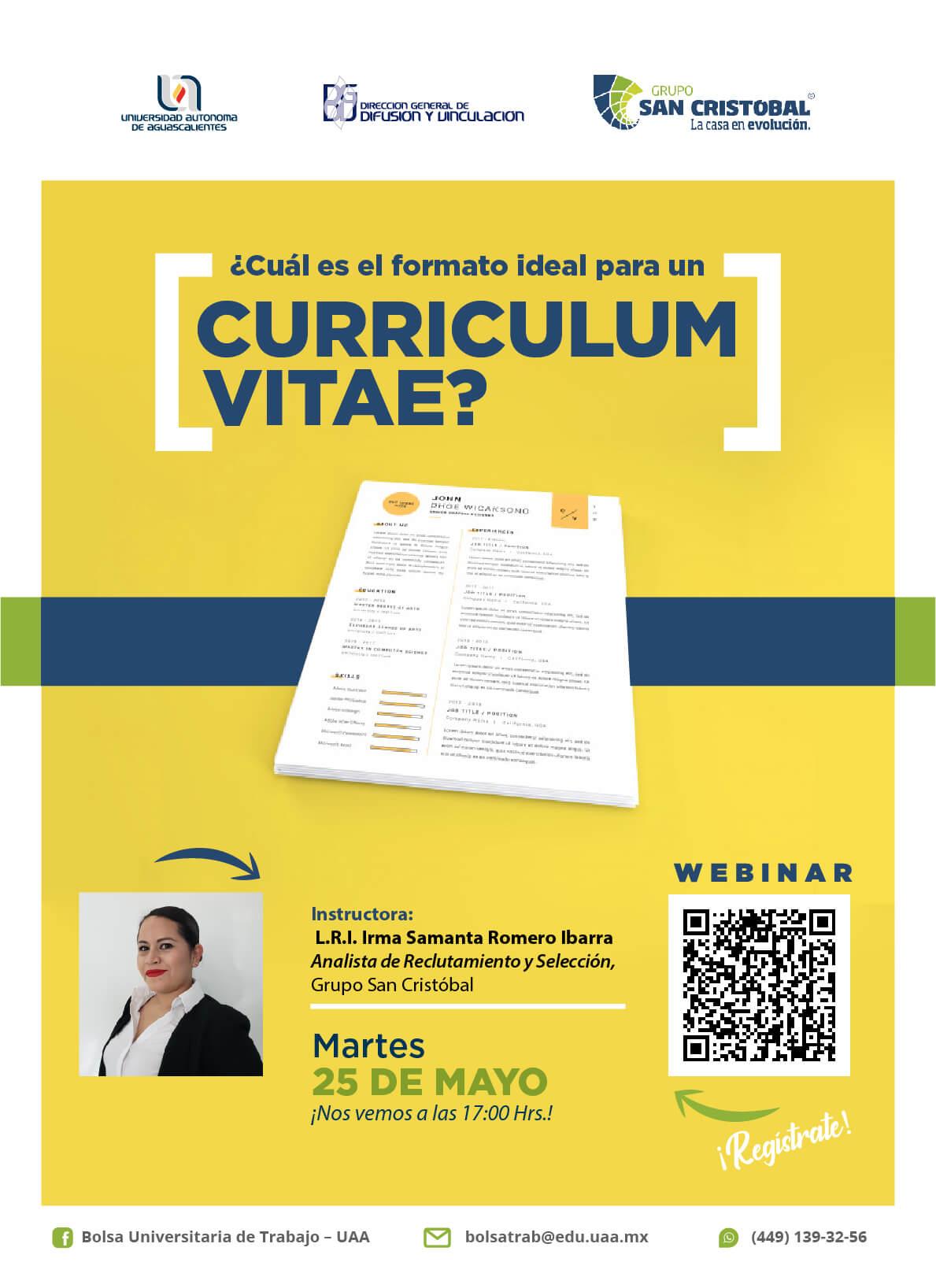 Webinar: ¿Cuál es el formato ideal para un currículum vitae?