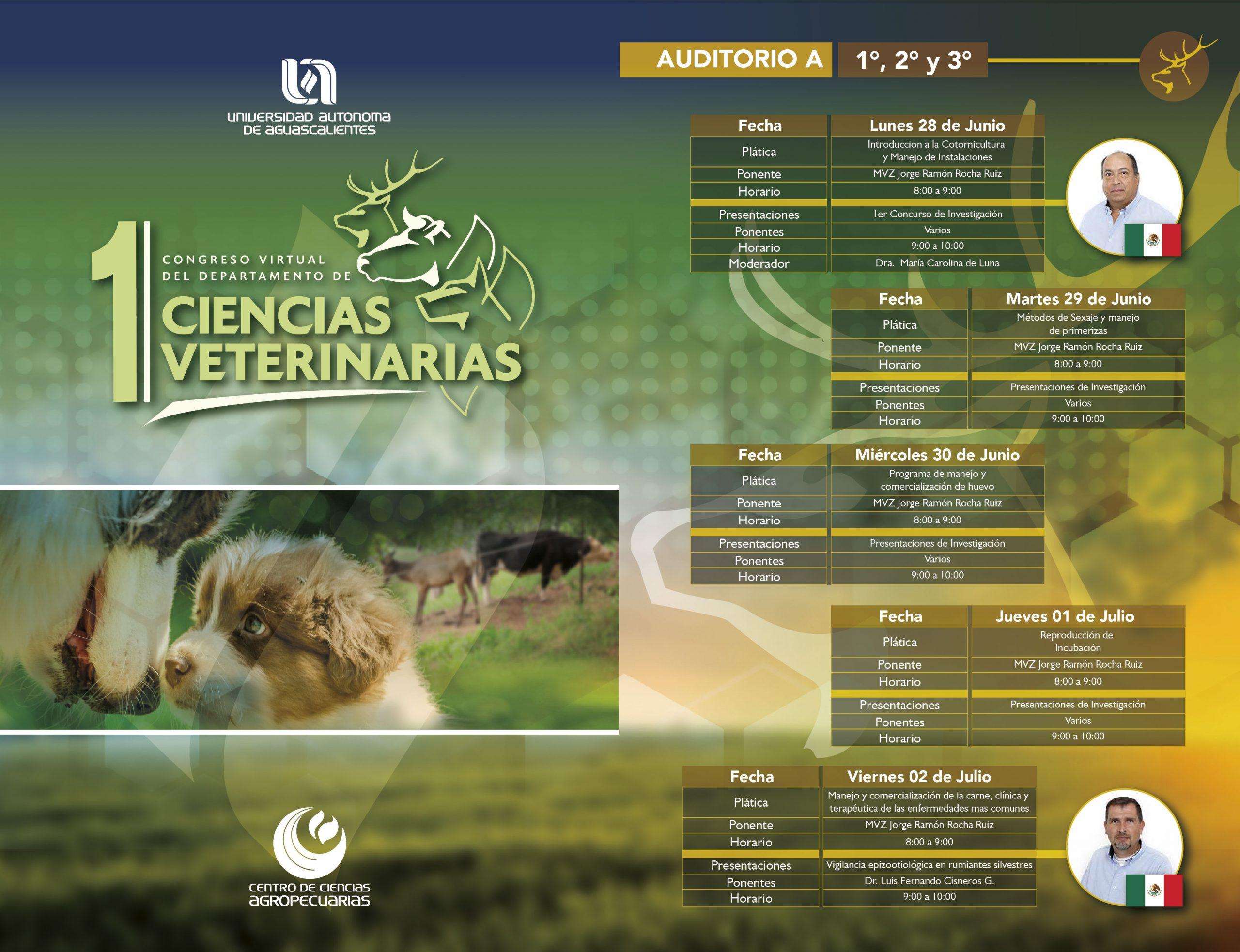 DIFUSIÓN DEL 1ER CONGRESO VIRTUAL DEL DEPARTAMENTO DE CIENCIAS VETERINARIAS