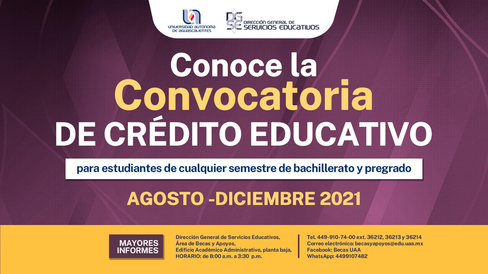 Convocatoria de Crédito Educativo