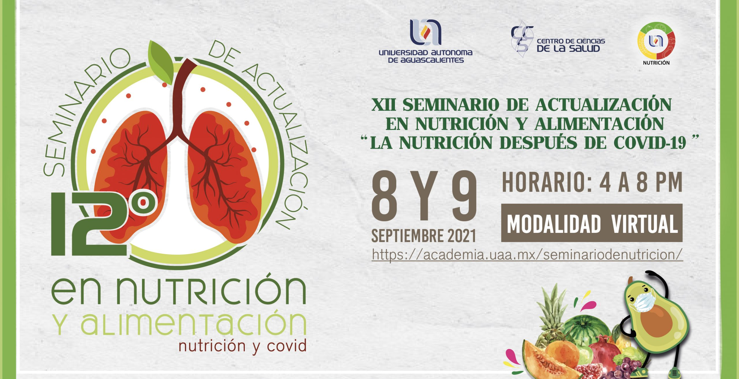 Programa del XII Seminario de Actualización en Nutrición y Alimentación