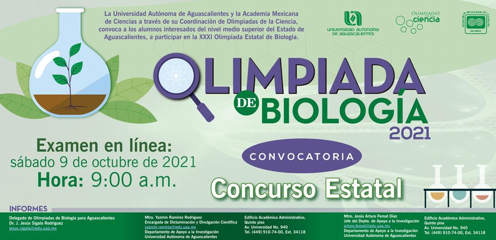 Olimpiada Estatal de Biología 2021