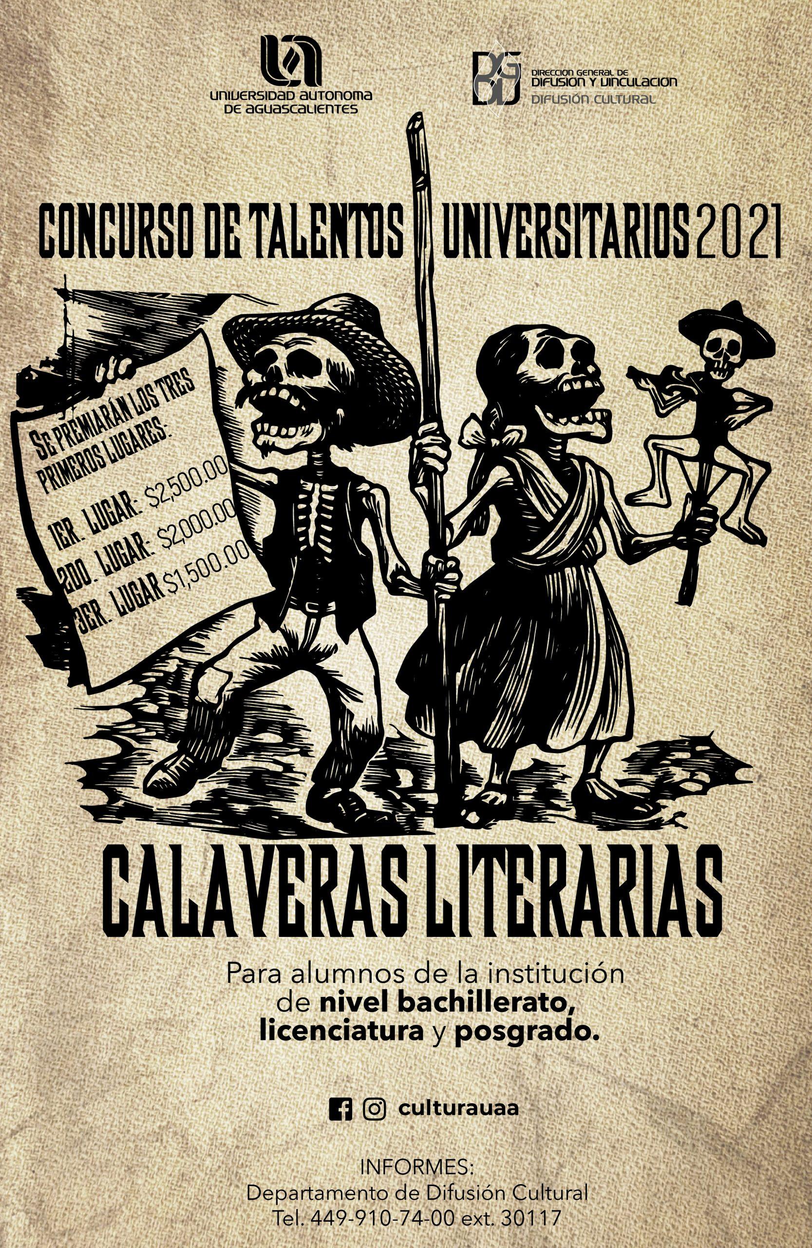 Talentos Universitarios Calaveras Literarias