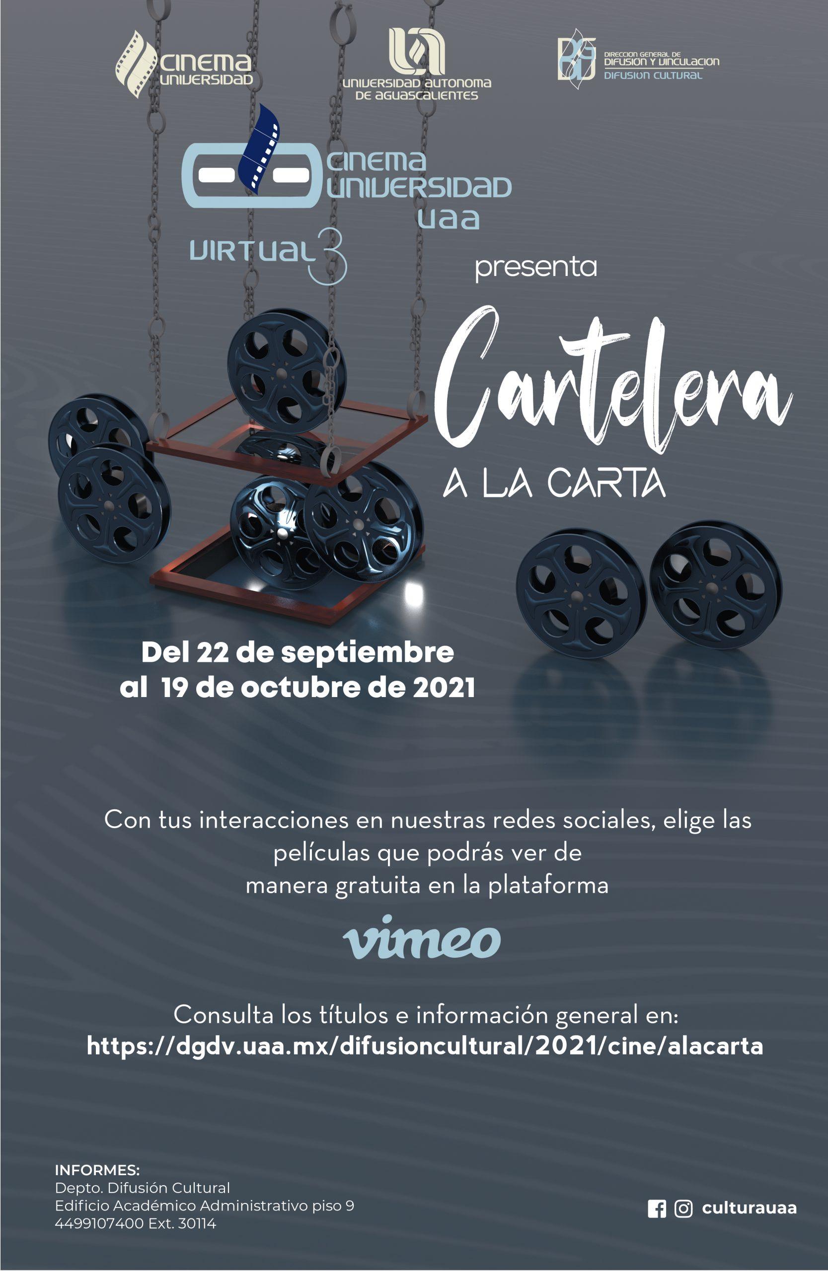 Cinema Universidad Cartelera a la Carta