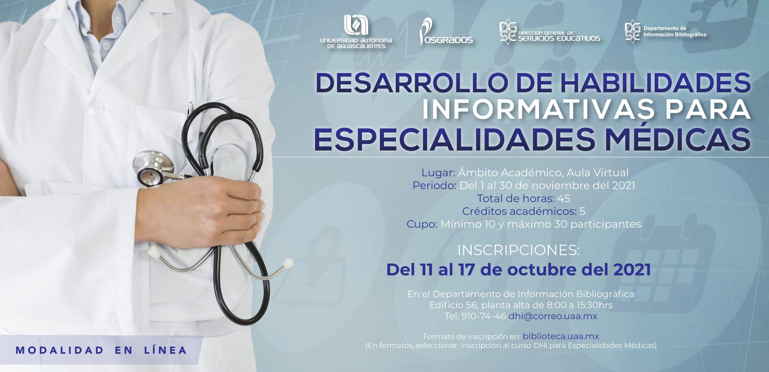 Curso DHI para Especialidades Médicas