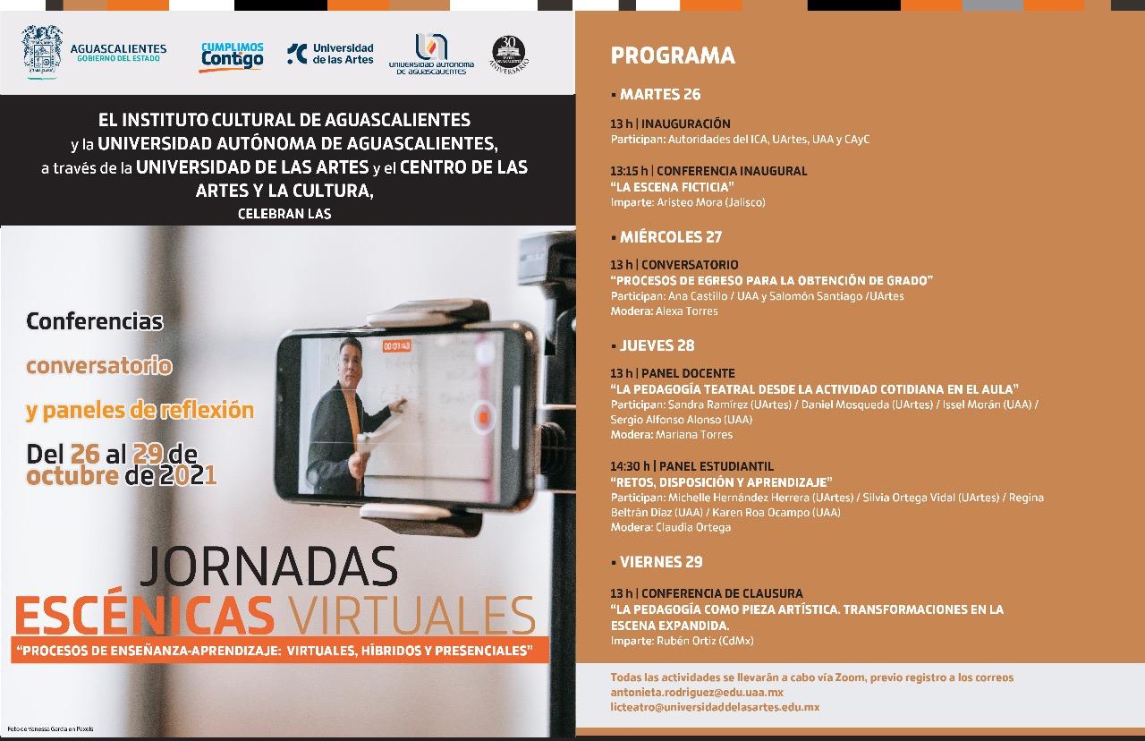 UAA colabora con ICA y Universidad de las Artes en Jornadas Escénicas