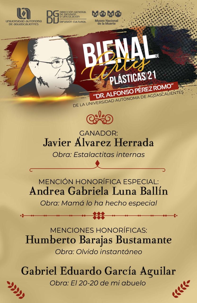 Ganadores Bienal de Artes Plásticas Dr. Alfonso Pérez Romo 2021