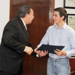 Reconoce Rector Andrade Cervantes Logro Obtenido por José de Jesús Naveja Romero en la Olimpiada Internacional de Biología.