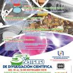 Del 12 al 16 de Noviembre la 5ª Semana de Divulgación Científica de la UAA