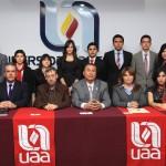 Mesa directiva del IMEF Universitario en estrecha vinculación con la UAA