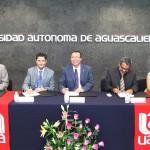 Firman convenio de colaboración UAA Y CANADEVI