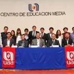 Toman protesta sociedades de alumnos del CEM central y oriente de la Autónoma de Aguascalientes