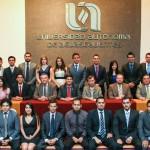 La nueva sociedad de alumnos de la licenciatura en derecho de la UAA rinden protesta