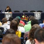 Lourdes Franco Bagnouls se presentó en las jornadas de dramaturgia de la UAA