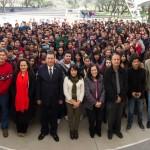 Da bienvenida rector de la UAA a estudiantes, exhortándolos a comprometerse con la excelencia