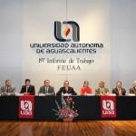 Rinde su primer informe de labores presidente de FEUAA