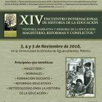 UAA SERÁ SEDE DEL XIV ENCUENTRO INTERNACIONAL DE HISTORIA DE LA EDUCACIÓN