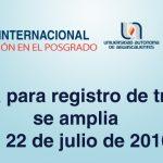 UAA Y CONACYT CONVOCAN AL SÉPTIMO CONGRESO INTERNACIONAL DE INVESTIGACIÓN EN EL POSGRADO.